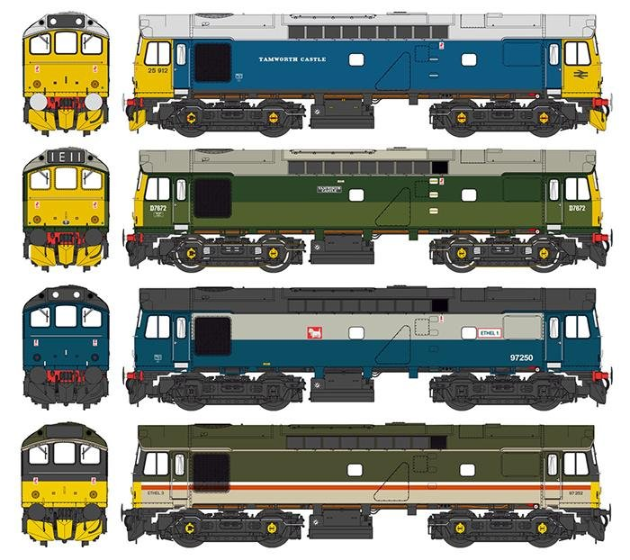Class 25 liveries
