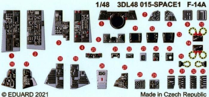 Eduard F-14A spACE Detail Set