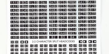 HM166 Pacific Models diesel headcodes