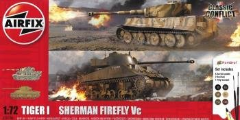Airfix Tiger I and Firefly