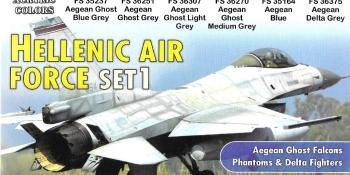 GREEK AIRCRAFT COLOUR SETS